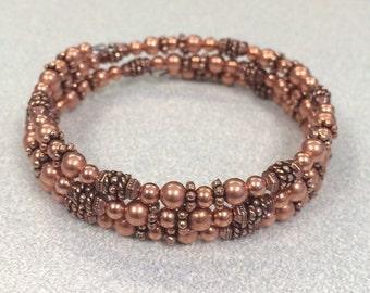 Copper Memory Wire Bracelet