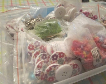 Large Wholesale Craft Lot - Beads, Charms, Buttons