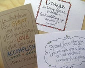 Quote Grab Bag: 3 4x6 handwritten quotations