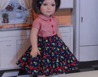 Fruit Bowl - circle skirt ensemble for American Girl
