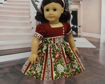 Bordeaux Rose - vintage style dress for American Girl doll