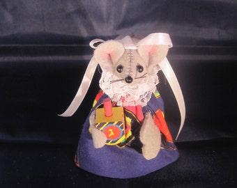 Hanukkah Mouse with a Dreidel