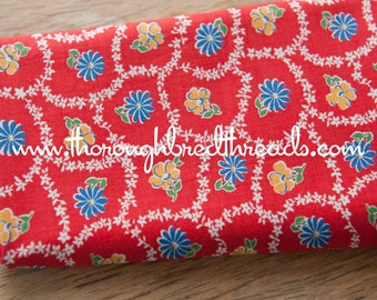 Fun Cottage Daisies  - Vintage Fabric 35 inches wide 30s 40s New Old Stock