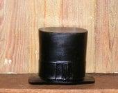Vintage Composition Paper Mache Black Top Hat Figurial Advertising P H Glatfelter Co Spring Grove PA