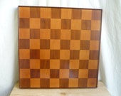Dark wood chess board, large, heavy wooden chess board, 17 inches, large chess board