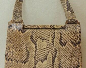 COLMER Snake Handbag, made in England