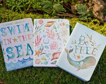 Seashore Mini Notebook Trio | Journals | Katie Daisy