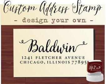 Calligraphy Handwriting Script Custom Return Address Stamp - Personalized SELF INKING Something Blue Wedding Stationery Stamp - Style 113