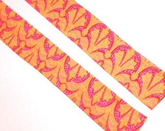 Neck Cooler Bright Pink on Orange Print Cool Tie