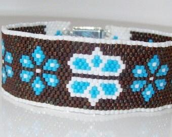 Beaded cuff bracelet , Peyote bracelet , Bead woven bracelet , Seed bead bracelet , Peyote cuff bracelet , Beadwork bracelet , cuff bracelet