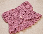 Crochet PATTERN - Butterfly Shrug - Cardigan (sizes baby up to 6 years)