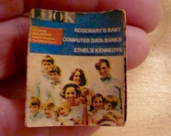 Miniature Dollhouse Collectible LOOK Magazine