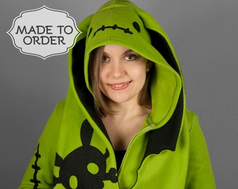 Zombunny Zombie Bunny Costume Hoodie - Made to Order