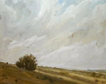 Hills Under Sky | Original Landscape Oil Painting | 12 x 12