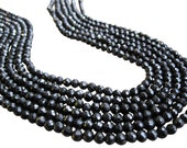 Black Spinel Beads, Luxe AAA, 3mm Faceted Round, Black Gemstone, Loveofjewelry, SKU 1674