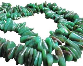 Chrysoprase Beads, Australian Green Chrysoprase Chips, Green Gemstone, Loveofjewelry, SKU 2852
