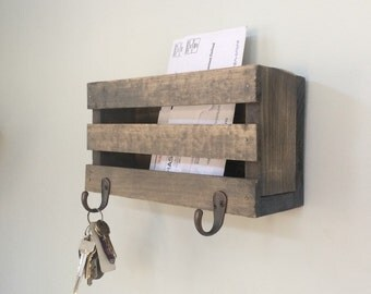Mail Organizer, Key Holder, Mail Sorter, Mailbox, Mail Storage, Rustic Decor, Family, Mail Station, Key Hooks, Mail Organization