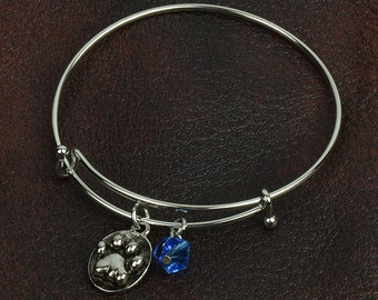 Paw  expandable bracelet , sold by each