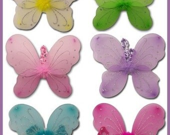 Close Out, Butterfly Fairy Wings, Hot Pink
