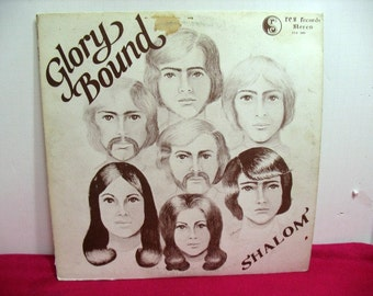 Vintage Glory Bound Shalom Vinyl LP Xian Psych Rock RCS Private Press Oregon Original Cover Christian Record