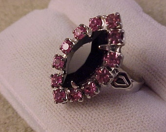 Repurposed Jewelry Adjustable Cocktail Ring