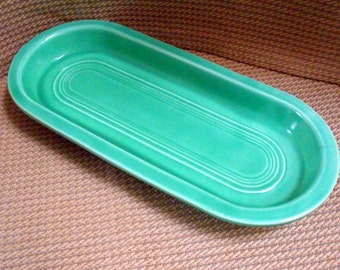 Fiestaware vintage Utility tray. Original green color 1939-1948