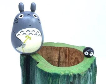 My Neighbor Totoro TEAK WOOD VASE Studio Ghibli 71