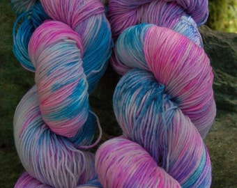 Handpainted sock yarn, fingering yarn, Superwash Merino Tencel Nylon, 100 grams-Pegasus