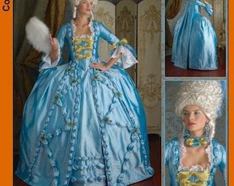 Simplicity 3637 Marie Antoinette costume pattern
