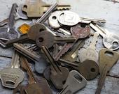 KEY Lot (24) Car Keys-House Keys-Mixed Media Altered Art Supply