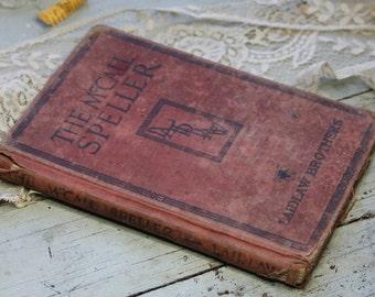 The McCall Speller- Antique SPELLING BOOK- Word School Primary Reader 1931