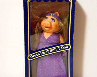 Miss Piggy Muppet Doll Vintage Dress Up Fisher Price NOS In Package Box 1982