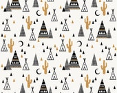 Spoonflower's Tipi Sand designed by Charlotte Winter - printed on a variety of cotton fabrics - 1 yard