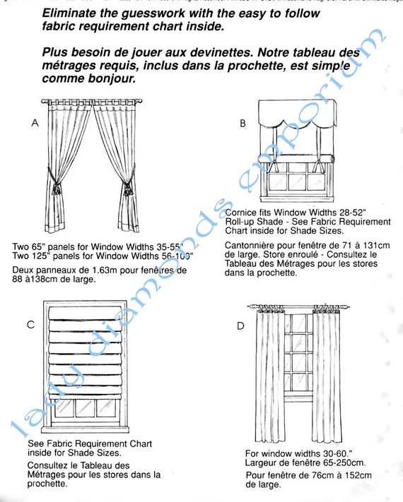 McCalls 3088 Easy 1 & 2 Hour Window Curtains Drapes