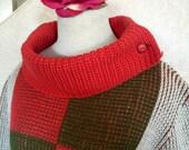 SALE! Vintage Rosanna 1960s Wool Patchwork Womens Sweater