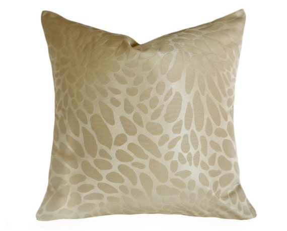 Animal Print Sofa Pillows : Cream Throw Pillows Abstract Animal Print by PillowThrowDecor