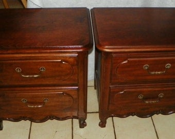 Pair of Cherry Nightstands / End Tables