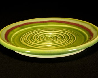 Olive Oil Dish - Garlic Grater - Garlic Grater Plate - Green Garlic Grater - Green Grating Plate - In Stock