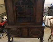 Sing for lady Ophelia china cabinet with original wood dinish