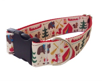 """1.5"""" Bear Country Dog Collar or Martingale"""