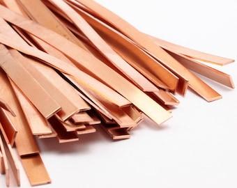 Copper Bracelet Blank, 5 Raw Copper Bracelet Stamping Blanks, Bangles (6x145x0.80mm) D437