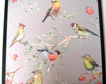 Bird Meeting ..Magnet Dry Erase Steel Memo Board / Housewarming Gift / Office Decor / Desk / Organization / Wall Hanging / Message Board