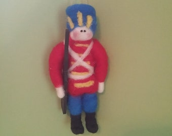 Toy Soldier Felted Wool Ornament - NEW for 2016