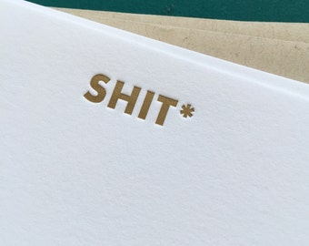 SH*T Multiple Choice Letterpress Card