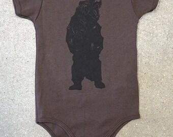 Bear Screen Printed Onesie | 6-12m