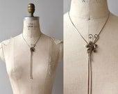 Bloomed Bolo necklace | vintage floral bolo necklace | metal bolo tie necklace