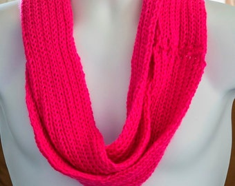 Bright pink  infinity scarf