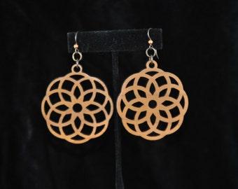 Cherry Lotus Flower Earrings