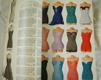 Vintage catalogue, Montgomery Ward, Spring, Summer, 1955, 1950s, fashion, home décor, mid century, ephemera