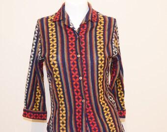 Vintage Beatnik Majestic Wool Blouse 60's